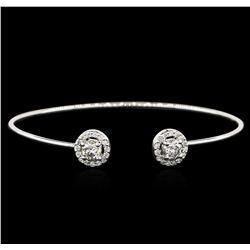 14KT White Gold 1.16 ctw Diamond Bangle Bracelet