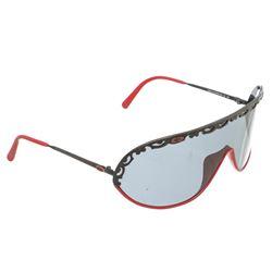 Christian Dior Red Black Acryllic Sunglasses
