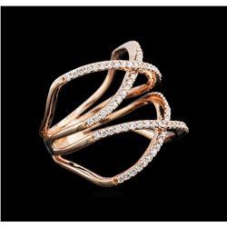 0.53 ctw Diamond Ring - 14KT Rose Gold