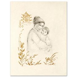 Lei Jeigiong and her Baby in the Garden of Yun-Ta by Hibel (1917-2014)