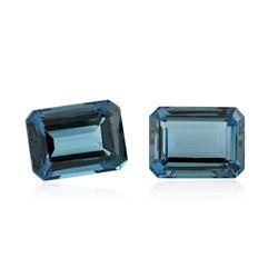 60.23 ctw. Natural Emerald Cut Blue Topaz Parcel