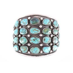 Navajo Sterling Pilot Mountain Turquoise Bracelet