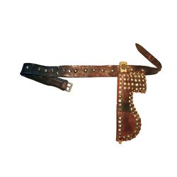Blackfoot Scout's Tacked Belt, Sheath & Knife 1880