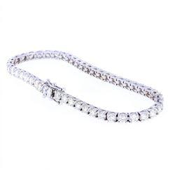 RARE VS2 Diamond 14K White Gold Tennis Bracelet