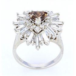 1930-40's Fancy Brown Diamond 2.5 ct. 14K Ring
