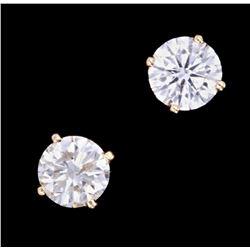 Rare VS1 Diamond 1.10 Carat 14K Gold Stud Earrings