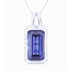 25.36 ct. Tanzanite & Diamond Platinum Necklace