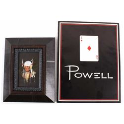 Ace Powell Oil Chief Framed Painting & Art Book