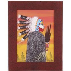 2020 Original Dau-Law-Taine Kiowa Bordered Artwork