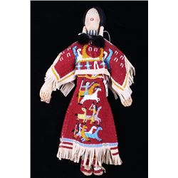 Sioux Mary Standstall Fully Beaded Hide Doll 1940