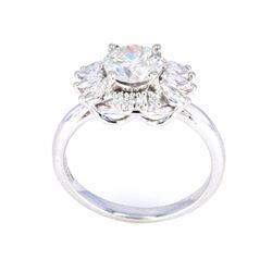 1930's Style 1.51 ct Diamond & Platinum Ring