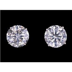 Vintage Estate 2.11 ct. Diamond 14K Stud Earrings