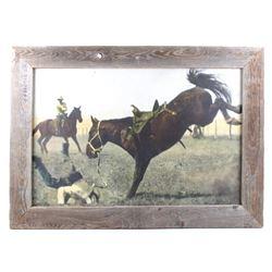 Original R. Doubleday Bucking Bronco Rodeo Photo