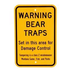 Montana Game, Fish, & Parks Bear Trap Sign