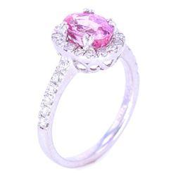 Fancy Pink 2.06 ct Sapphire & VS2 Diamond Ring