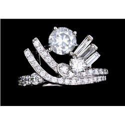 Vintage 1.85 ct Diamond Mid-Century Platinum Ring