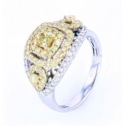 VS1-VS2 Fancy Yellow Diamond 1.50 ct 14K Gold Ring