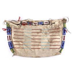 Sioux Beaded Hide Tipi Possible Bag c. 1880