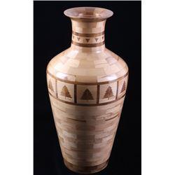 Walnut & Maple Segmented Turned Vase