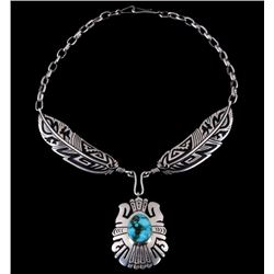 Tommy Singer Navajo Sterling Turquoise Necklace