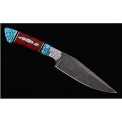 Navajo Yellowhorse Turquoise Eagle Feather Knife