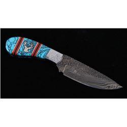 Navajo Yellowhorse Turquoise Trophy Deer Knife