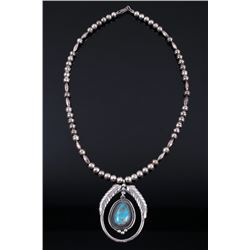 Navajo Sterling & Turquoise Shadow Box Necklace