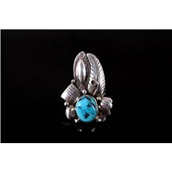 Navajo Sterling Sleeping Beauty Turquoise Ring