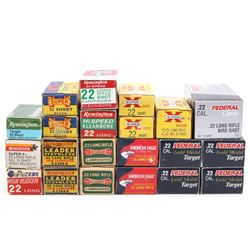 Collection of .22 Long, Short & Long Rifle Ammo
