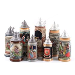 Traditional German Beer Stein Collection