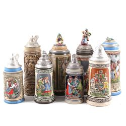 Collection of Traditional Assorted German Steins