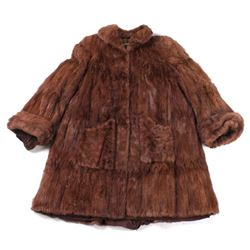 Brown National Furs Shop Coat From Butte, Montana