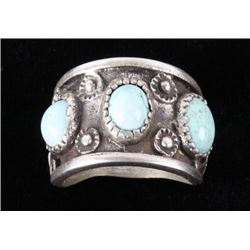 Navajo Silver & Dry Creek Turquoise Ring