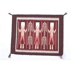 Navajo Yei Pictorial Fine Wool Sampler Rug