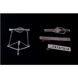 Navajo Sterling Silver Tie Clip Collection