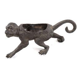 19th Century Metal Monkey Match Safe