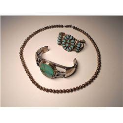 Navajo Fred Harvey Turquoise & Silver Bracelets