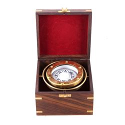 Carl Plath Nautical Compass Ornate Mariners Case