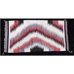 Navajo Mesa Rug with Pink, Black, & Grey Accents