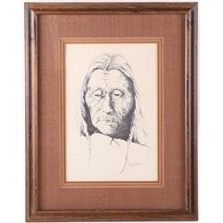 "Hand Drawn Portrait ""Showatit"" by Shelley Pereboom"