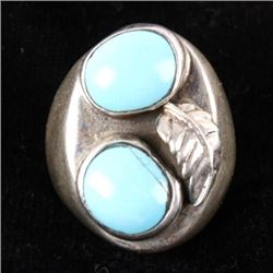 Navajo Silver & Sleeping Beauty Turquoise Ring