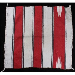 Zapotec Red and Cream Saddle Blanket