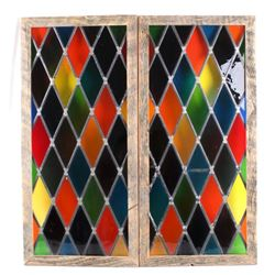 Framed Stained Glass Window Wall Panels