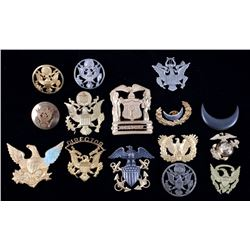 Collection of US Military Uniform Insignia