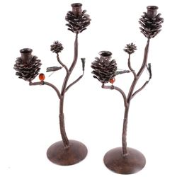 Pinecone Candle Stick Holders