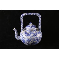 Chinese Qinglong Azure Dragon Tea Kettle