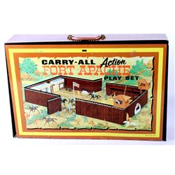 Carry-All Action Fort Apache Play Set Circa 1960