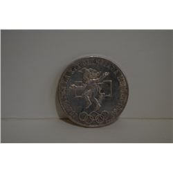 1968 Mexico Olympic Silver Coin