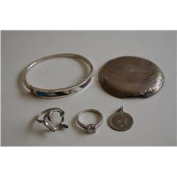 Silver Jewelry and Scrap Lot 32+ grams