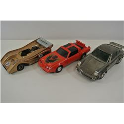 Three diecast cars